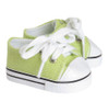 Light Lime Low-Rise Canvas Sneakers