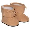Tan Fringe Ankle Boots