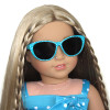 Turquoise Polka Dot Sunglasses for American Girl and other 18 inch dolls