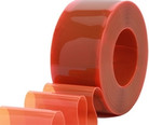 "8"" Safety Orange Bulk Strip Curtain Roll"