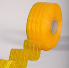 Anti-Insect Yellow Ribbed Bulk Strip Curtain Roll 8""