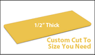 Custom Cutting Board - 1/2 Inch Thick - Yellow