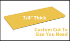 Custom Cutting Board - 3/4 Inch Thick - Yellow