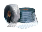 "Bulk Strip Curtain Roll 12"" Freezer Ribbed"