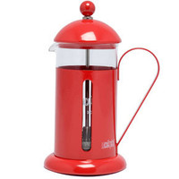 La cafetière 3 tasse de cafetière en rouge