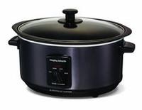 Morphy Richards 48703 Cuisinière lente à cuire et à cuisson en noir