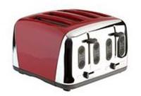 Prestige Deco - Grille-pain à 4 tranches en rouge