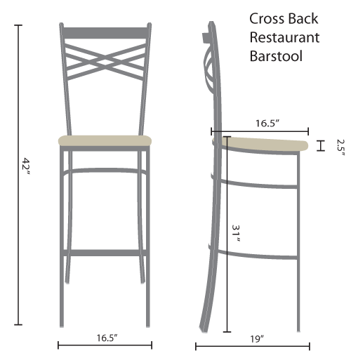 cross back restaurant barstools