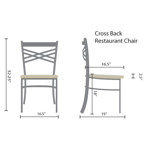cross back restaurant chairs