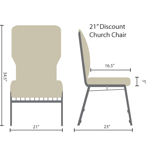 21-inch discount church chairs