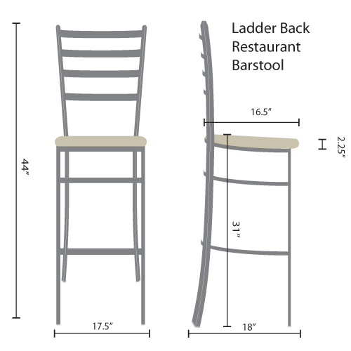 ladder back restaurant barstools
