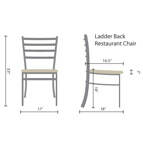ladder back restaurant chairs