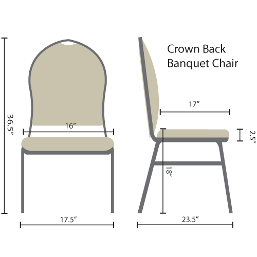 premium crown back banquet chairs