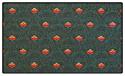 Premium Hunter Green Pattern Crown Back Banquet Chair Fabric Swatch
