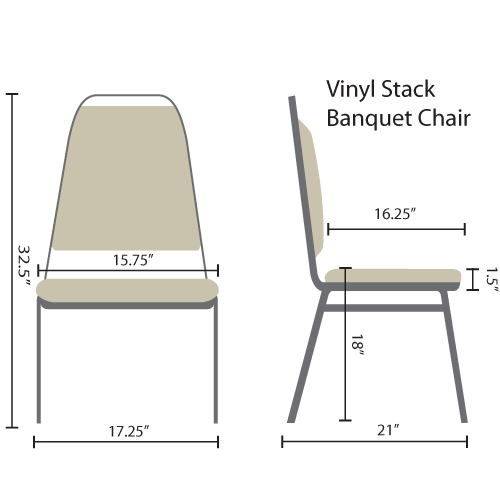 Stackable Chairs | Black Vinyl Banquet Chairs
