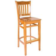 BFM Seating Princeton Honey Oak School Back Restaurant Bar Stool [WB7218HOHOW]