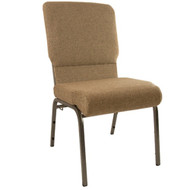Advantage Mixed Tan Church Chairs 18.5 in. Wide - Silver Vein Frame [PCHT185-105-SV]