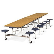 Virco 12 ft. Virco Mobile Cafeteria Stool Table - 17-inch Seat Height [MTS17291212]