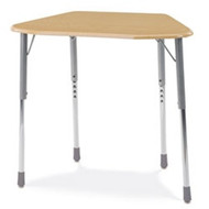 Virco ZUMA Adjustable Height Trapezoidal Student Desk [ZOCTM]