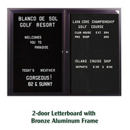 Ghent 36x60-inch Enclosed Black Letter Board - Bronze Aluminum Frame [PB23660B-BK]