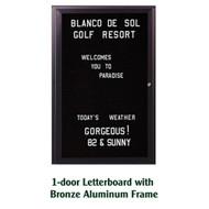 Ghent 36x24-inch Enclosed Black Letter Board - Bronze Aluminum Frame [PB13624B-BK]