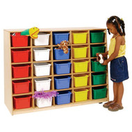 Wood Designs Tip-Me-Not 25 Tray Cubby Storage Unit [WD16089]