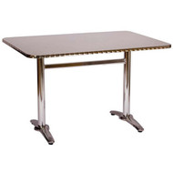 BFM Seating Stiletto 22x32-in. Bar & Restaurant Trestle Bar Height Table Base [PHTB2232T]