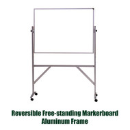 Ghent 3'x4' Reversible Free Standing Whiteboard - Aluminum Frame [ARMM34]