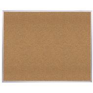 Ghent 4'x4' Natural Cork Bulletin Board - Aluminum Frame [AK44]