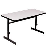 Correll 6 ft. Computer Table - Adjustable Height High Pressure Laminate Top [CSA2472]