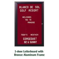 Ghent 36x30-inch Enclosed Burgundy Letter Board - Bronze Aluminum Frame [PB13630B-BG]