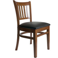 BFM Seating Delran Cherry Wood Slat Back Restaurant Chair [WC102CHV]