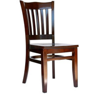 BFM Seating Princeton Walnut Wood School Back Restaurant Chair [WC7218WAWAW]