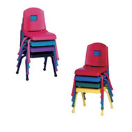 Mahar 10-in. Split Bucket Color Stack Chair [10CHR]