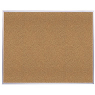 Ghent 4'x10' Natural Cork Bulletin Board - Aluminum Frame [AK410]