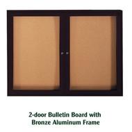 Ghent 36x48-inch Enclosed Cork Bulletin Board - Bronze Aluminum Frame [PB23648K]