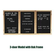 Ghent 48x72-inch Enclosed Black Letter Board - Oak Frame [PW34872B-BK]