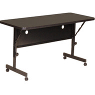 Correll 4 ft. High Pressure Laminate Deluxe Flip Top Table [FT2448]