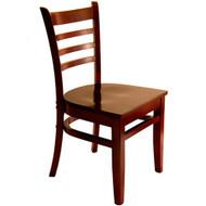 BFM Seating Burlington Mahogany Wood Ladder Back Restaurant Chair [WC101MHMHW]