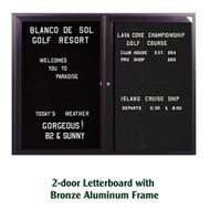 Ghent 36x48-inch Enclosed Black Letter Board - Bronze Aluminum Frame [PB23648B-BK]