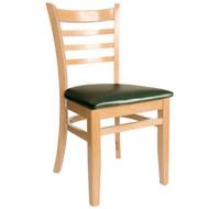 BFM Seating Burlington Natural Wood Ladder Back Restaurant Chair [WC101NTV]