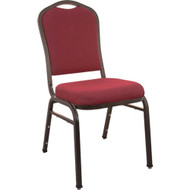 Advantage Premium Burgundy Crown Back Banquet Chair - Gold Vein [CBHS-100-GV]