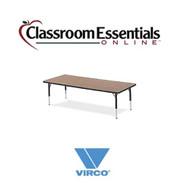Virco Rectangular 30x72 Preschool Activity Table [483072LO]