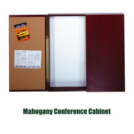 Ghent 48x48-inch Conference Cabinet - Magnetic Whiteboard and Bulletin Board [C1-44]