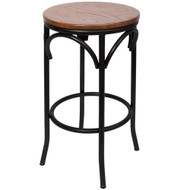 BFM Seating Henry Industrial Backless Bar Stool