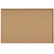 Ghent 4'x8' Natural Cork Bulletin Board - Wood Frame [WK48]