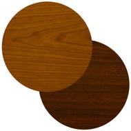 "BFM Seating 36"" Round Laminate Restaurant Table Top - Cherry / Dark Mahogany Reversible [CM36R]"