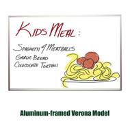 Ghent 3'x4' Verona Aluminum Frame Melamine Whiteboard [M2-34-1]