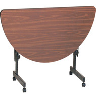 Correll 4 ft. Half Round High Pressure Laminate Deluxe Flip Top Table [FT2448HR]