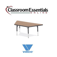 Virco Trapezoidal 30x30x30x60 Preschool Activity Table [48TRAP60LO]